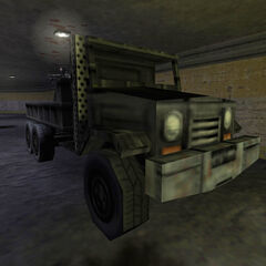 The truck on which the bomb is armed.