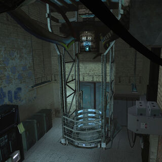 The teleport in Kleiner's Lab.