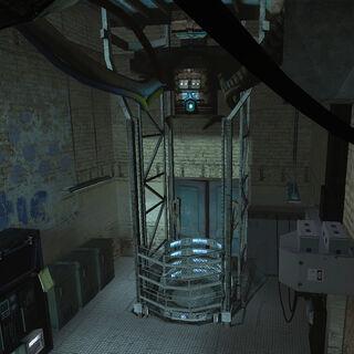 The teleport in Kleiner's Lab.