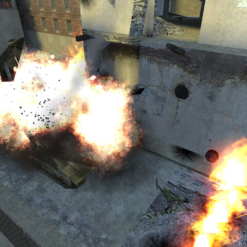 The Merkava getting blown up in sniper_029.