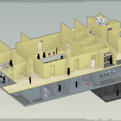 The isometric Aperture Science offices from the