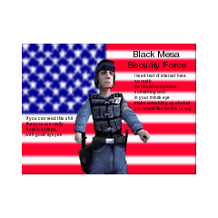 Black Mesa Security Force advertisement.