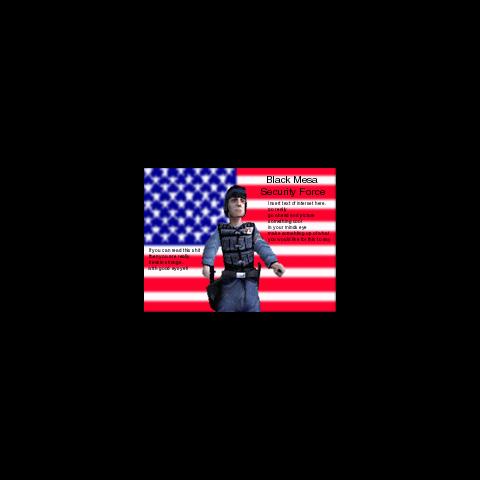 Black Mesa Security Force advertisement.