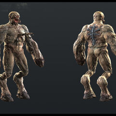 Naked Alien Grunt render.