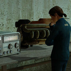 When Gordon has left, she waits by her radio.
