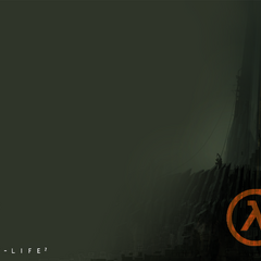 The playable <i>Half-Life 2</i> Beta menu, featuring the previous image.