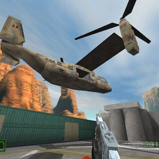Early model in an early <i>Half-Life</i> screenshot.