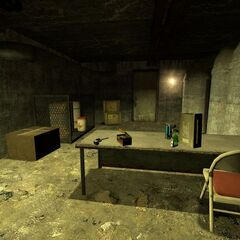A supply room, where the Colt Python is first found