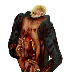The Beta Zombie, without the Headcrab, showing the jaw. The exposed jaw was recycled for the <a href=