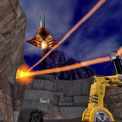 Alien Aircraft final boss in Half Life Decay