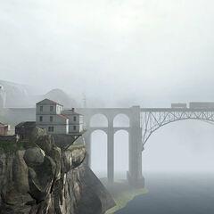 The railway bridge at <a href=