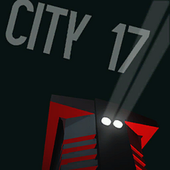 City 17 Razor Train poster, apparently featuring a locomotive model.