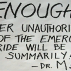One of the several handwritten warning messages left by Magnusson around White Forest.