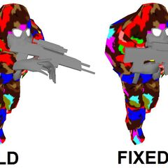 A comparison of the old broken model and the newer fixed model.