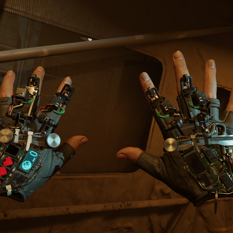 Alyx's gloves as seen in the reveal announcement trailer.