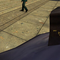 The food package after spawning, with the MP5K HUD icon appearing.