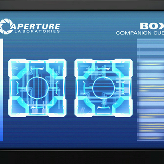 Unused monitor screen for the Companion Cube.