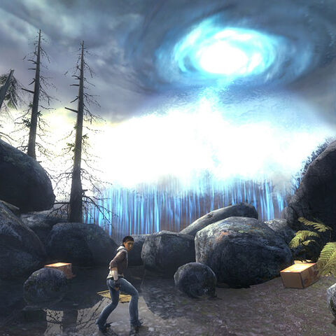 A Portal Storm, as seen in <i>Episode Two's</i> introductory chapter, <i>To The White Forest</i>.
