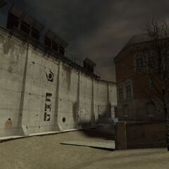 Possible early Smart Barrier, mostly made of concrete in the map
