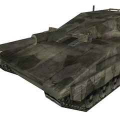 The brush camouflage Merkava.