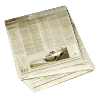 Newspaper model, back.