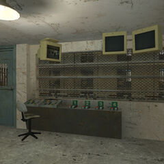 Control room near the large cell block.
