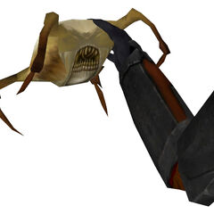The Molotov cocktail appearing as the Brickbat Headcrab.