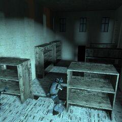 Inside one of the Overwatch Nexus' buildings.