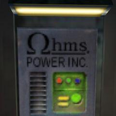 The Ohms power source for the <a href=