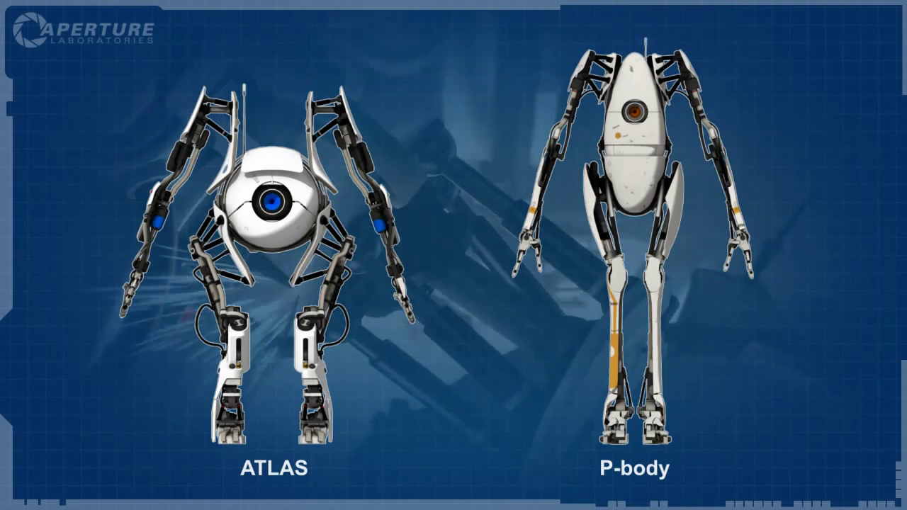 Atlas and p body half life wiki fandom powered by wikia in the same video the blueprints quickly turn into the actual robots malvernweather Gallery
