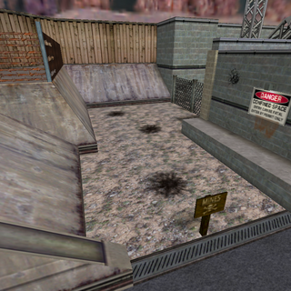 Exploded mines in the <i>Half-Life</i> chapter <a href=