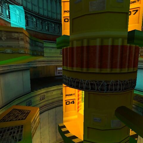 Early teleports in an early Lambda Reactor Core.