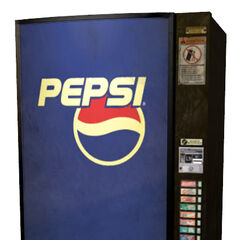 The early Pepsi vending machine model.