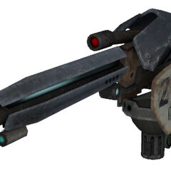Autogun cannon model.