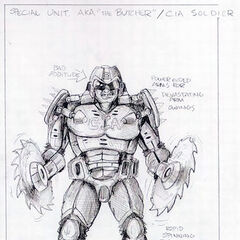 Concept art for the CIA Soldier.