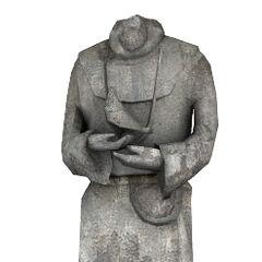 Gravestone statue model.