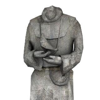Gravestone statue.