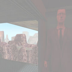 The G-Man briefly stops talking to Adrian Shephard when Black Mesa is destroyed.