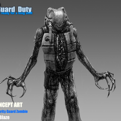 Security Guard Zombie Concept.