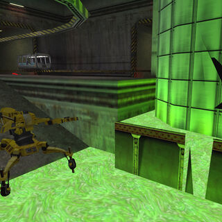 The second Loader plunging into radioactive materials in <i>Half-Life</i>.