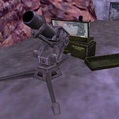 Black Op manning a mortar.