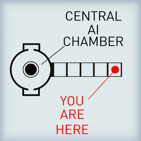 The unused Central AI Chamber signage.