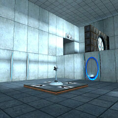 The blue portal ASHPD introduced in Test Chamber 02.