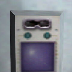 Idle retinal scanner at the entrance of the <a href=