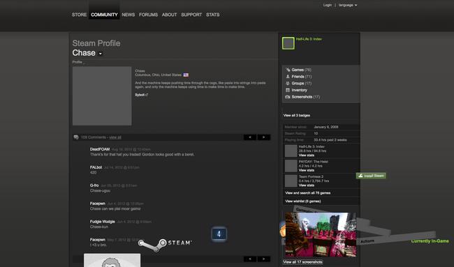 Jumbled Steam Profile