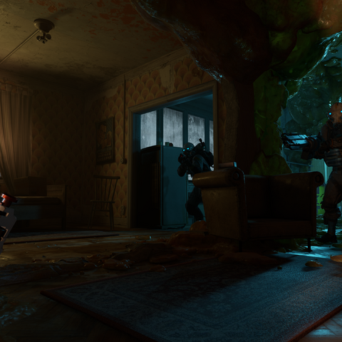 Early screenshot showing the Suppressor with a Heavy Shotgun.