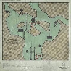 Map of the valley, found in White Forest's main hangar and the sawmill.