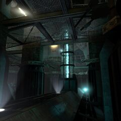 The plasma stream leading the player further down throughout the whole game.