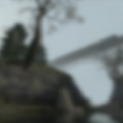 What seems to be an early version of the bridge where Gordon and Alyx's train crashed, as the background texture of the <a href=