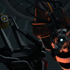 GLaDOS uploaded to a potato by Wheatley.